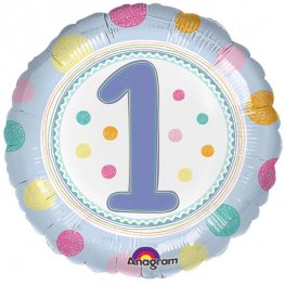 "18"" Spot On 1st Birthday Foil Balloons"