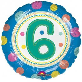 "18"" Spot On 6th Birthday Foil Balloons"