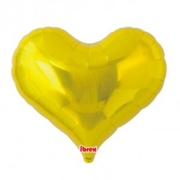 "14"" Metallic Gold Jelly Hearts Foil Balloons"