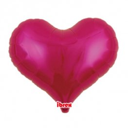"14"" Metallic Magenta Jelly Hearts Foil Balloons"