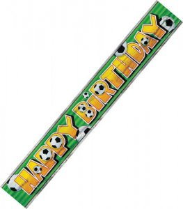 3D Soccer Happy Birthday Foil Banner