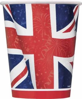 Union Jack Best Of British Paper Cups x8