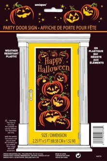 Pumpkin Door Poster