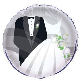 "18"" Bride And Groom Foil Balloons"