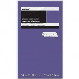 Deep Purple Rectangle Plastic Tablecover