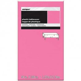 Hot Pink Rectangle Plastic Tablecover