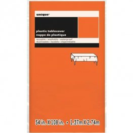 Orange Rectangle Plastic Tablecover