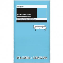 Powder Blue Rectangle Plastic Tablecover
