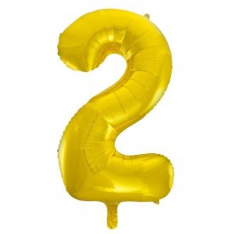"34"" Gold Glitz Number 2 Supershape Balloons"