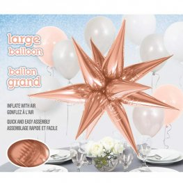 "28"" Rose Gold Starburst Foil Balloons"