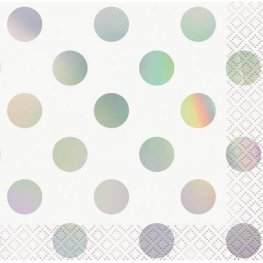 Iridescent Dot Beverage Napkins 16pk
