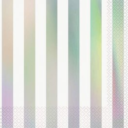 Iridescent Stripes Lunch Napkins 16pk