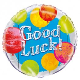 "18"" Good Luck Bright Foil Balloons"