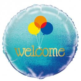 "18"" Blue Ombre Welcome Foil Balloons"