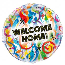 "18"" Bright Welcome Home Foil Balloons"