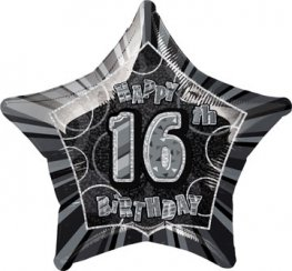 "20"" Happy 16th Birthday Glitz Foil Balloons"