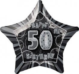 "20"" Happy 50th Birthday Glitz Foil Balloons"