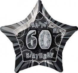 "20"" Happy 60th Birthday Glitz Foil Balloons"