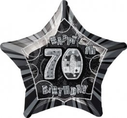 "20"" Happy 70th Birthday Glitz Foil Balloons"