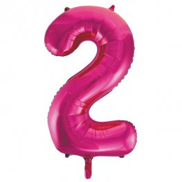 "34"" Pink Glitz Number 2 Supershape Balloons"