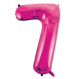 "34"" Pink Glitz Number 7 Supershape Balloons"