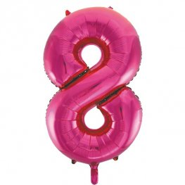 "34"" Pink Glitz Number 8 Supershape Balloons"