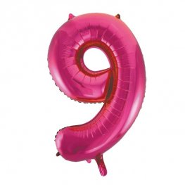 "34"" Unique Pink Glitz Number 9 Supershape Balloons"