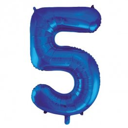 "34"" Blue Glitz Number 5 Supershape Balloons"