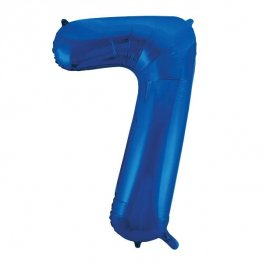 "34"" Blue Glitz Number 7 Supershape Balloons"