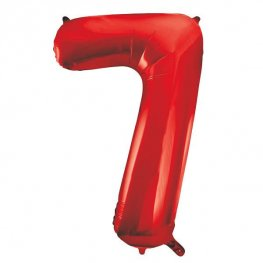 "34"" Red Number 7 Supershape Balloons"
