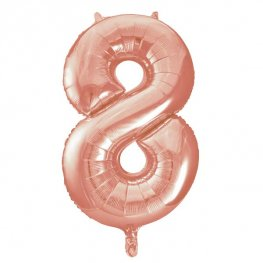 "34"" Rose Gold Number 8 Supershape Balloons"