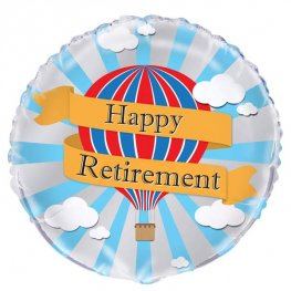 "18"" Happy Retirement Hot Air Balloon Foil Balloons"