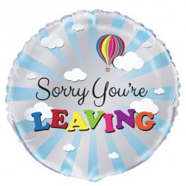 "18"" Sorry You're Leaving Blue Sky Foil Balloons"