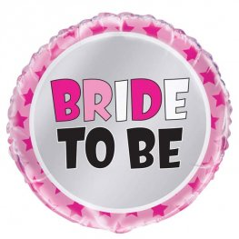 "18"" Pink Bride To Be Foil Balloons"