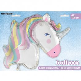"42"" Pastel Unicorn Supershape Balloons"