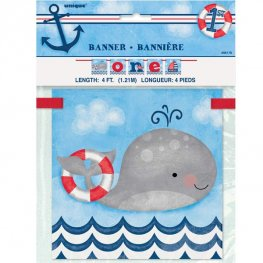 Nautical 1st Birthday Age One Banner