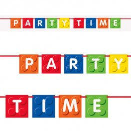 Party Time Building Blocks Banner