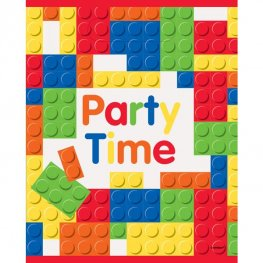 Happy Birthday Building Blocks Party Lootbags 8pk
