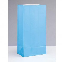Baby Blue Paper Party Bag 12pk