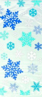 Blue Snowflakes Cello Bags x20