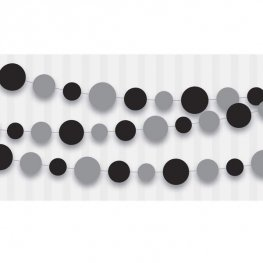 Silver And Black Dot Paper Garland