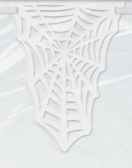 White Spider Web Diecut Flag Banner