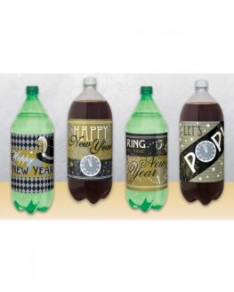 Jazzy New Year 2L Bottle Labels x4
