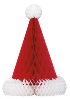 Santa Hat Honeycomb Table Decoration