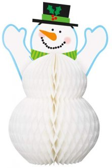 Holiday Snowman Honeycomb Table Decoration