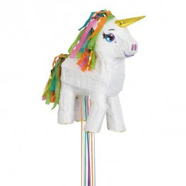 White 3D Unicorn Pinata
