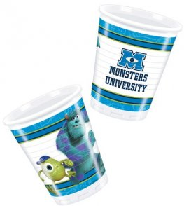 Monsters University Plastic Cups x8