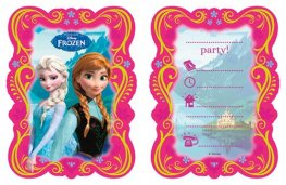 Frozen Invites And Envelopes x6