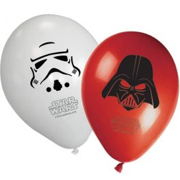 "11"" Star Wars Assorted Latex Balloons 8pk"