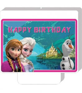 Frozen Happy Birthday Candle x1